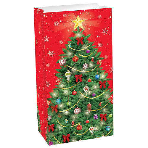 christmas tree paper favor bag