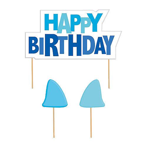 Shark Birthday Candles 3ct