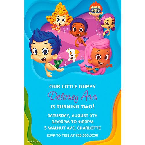 Custom Bubble Guppies Invitations