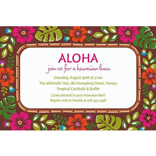 hawaiian luau party invitations party city