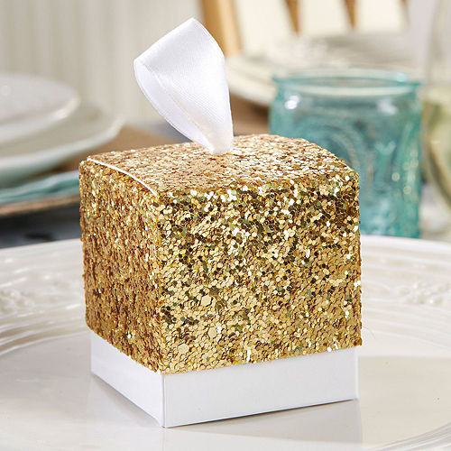 Gold Glitter Favor Bo