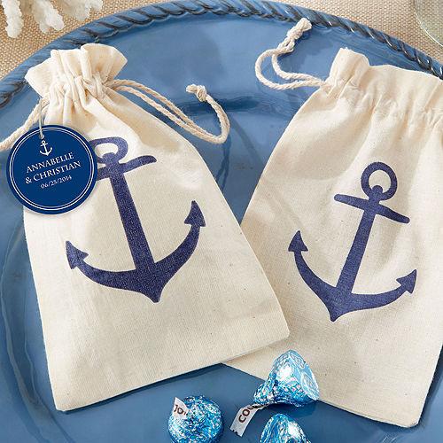 Anchor Muslin Favor Bags