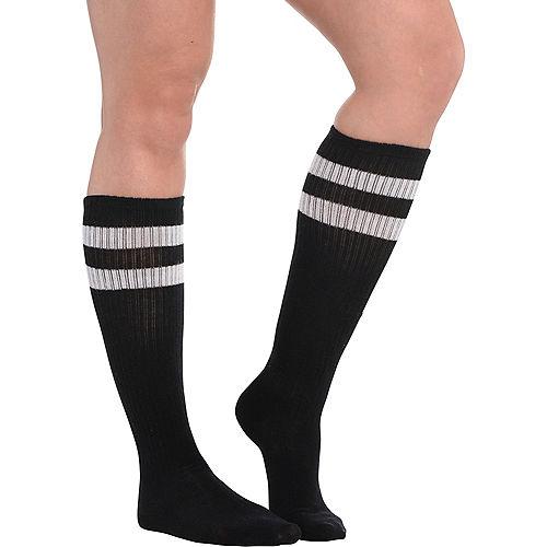 a9ca200ecd5 Black Stripe Athletic Knee-High Socks