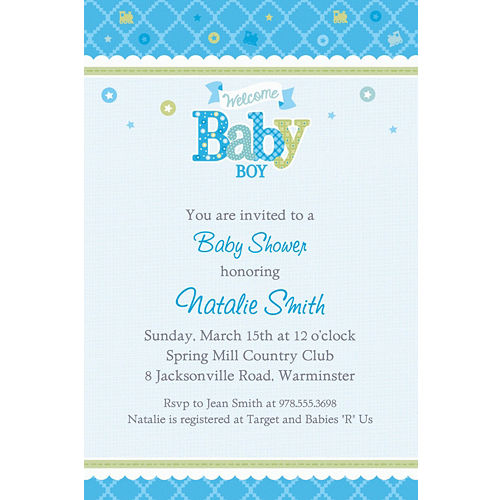 Baby Shower Invitation Ideas Boy
