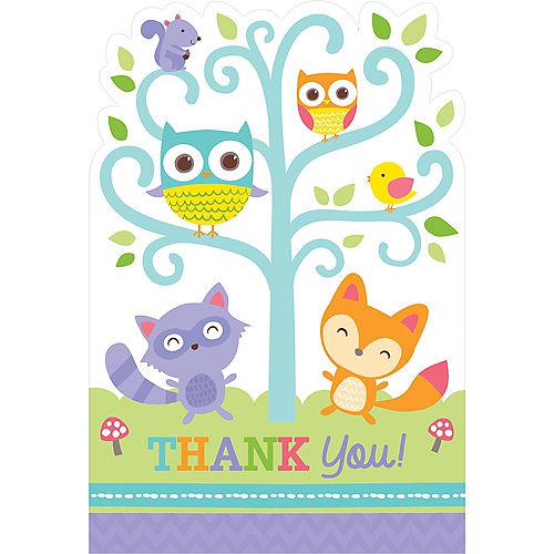 Baby shower invitations printable baby shower invitations party woodland baby shower thank you notes 8ct filmwisefo