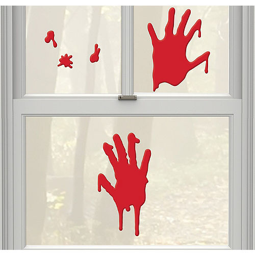 bloody hands gel cling decals 5ct asylum