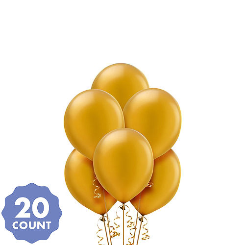 Gold Pearl Balloons 20ct