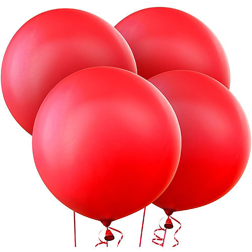 red balloons 4ct
