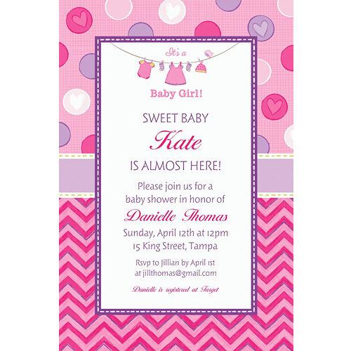 Custom Baby Shower Invitations Party City