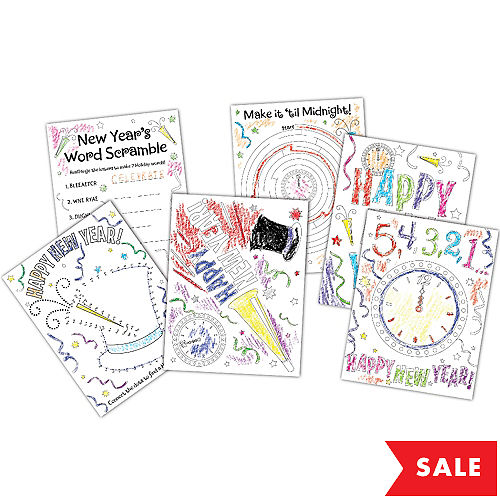 New Years Activity Sheets 30ct