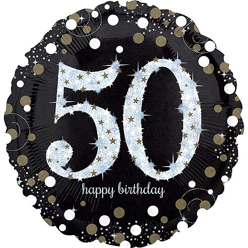 50th Birthday Balloon 18in Sparkling Celebration