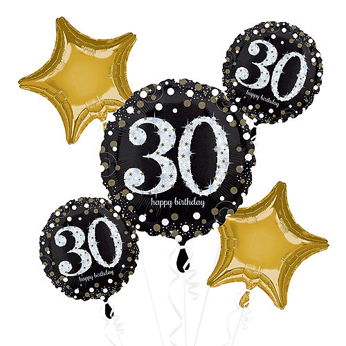 30th Birthday Balloon Bouquet 5pc