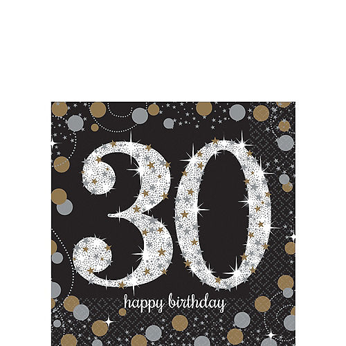 30th Birthday Beverage Napkins 16ct
