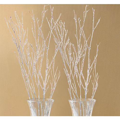 Glitter White Branches 4ct