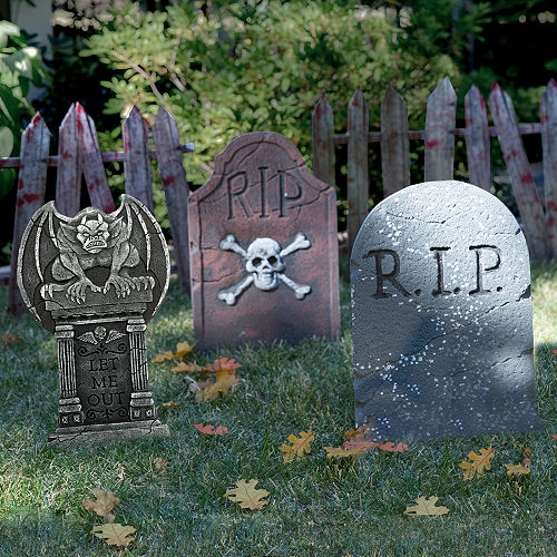 Halloween Tombstone Decorating Kit
