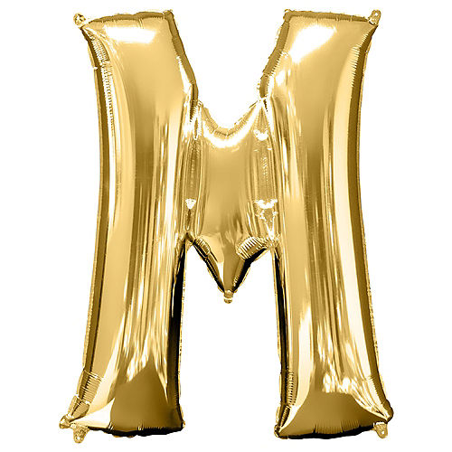 Giant Gold Letter M Balloon