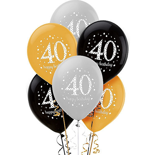 40th Birthday Balloons 6ct