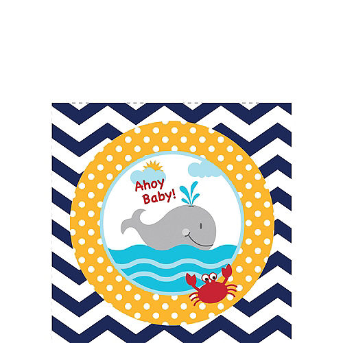 890a7f1af4a65 Ahoy Nautical Baby Shower Party Supplies   Party City