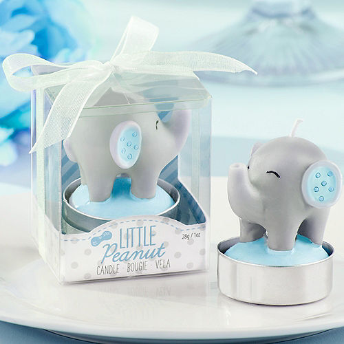 Blue Baby Elephant Candle