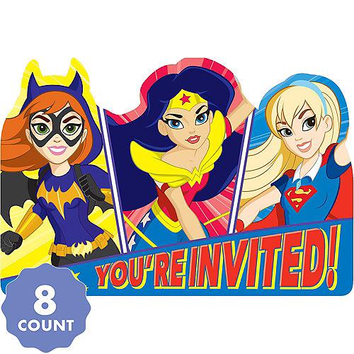 DC Super Hero Girls Invitations 8ct