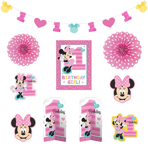 Stupendous Minnie Mouse 1St Birthday Party Supplies Party City Best Image Libraries Sapebelowcountryjoecom
