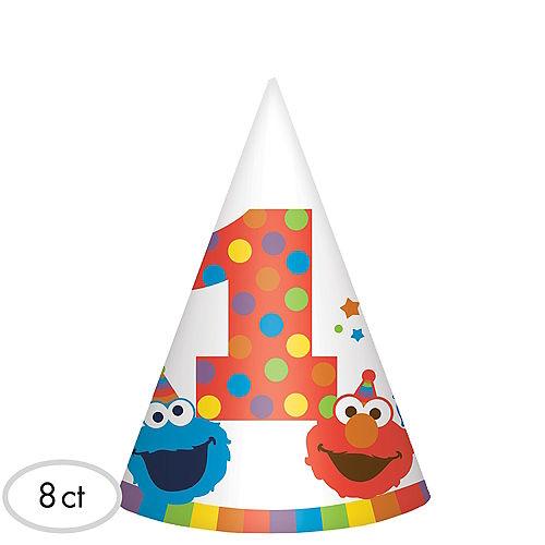 1st Birthday Elmo Party Hats 8ct