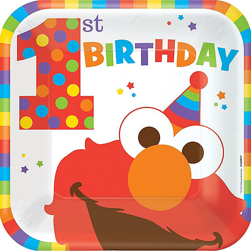 1st Birthday Elmo Lunch Plates 8ct