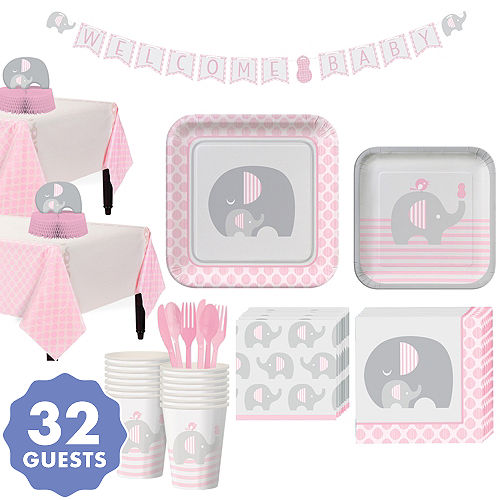 Little Elephant Girl Baby Shower Supplies Party City