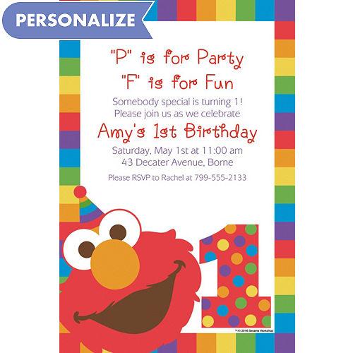 Custom Elmo 1st Birthday Invitation