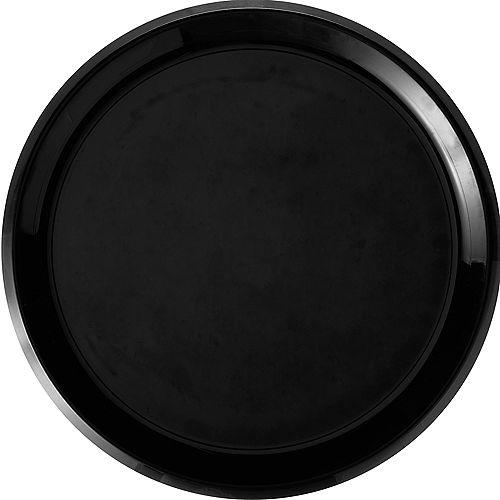 Black Plastic Round Platter