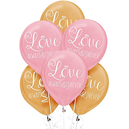 Wedding balloons balloon bouquets party city gold pink sparkling wedding balloons 6ct junglespirit Gallery