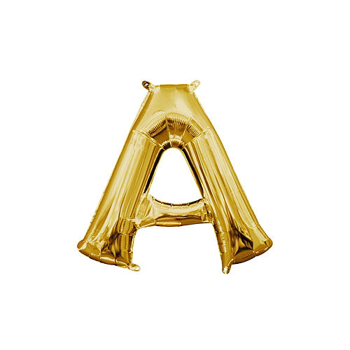 13in Air Filled Gold Letter Balloon A