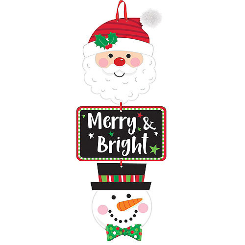 merry bright stacked sign