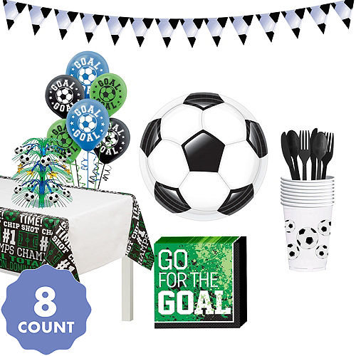 3a5b17e205c Soccer Basic Tableware Kit for 8 Guests