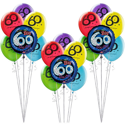 The Party Continues 60th Birthday Balloon Kit