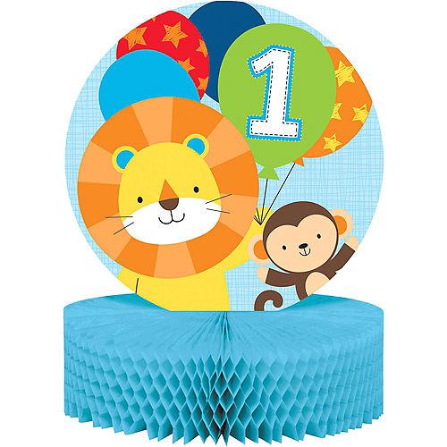 Blue One Is Fun 1st Birthday Honeycomb Centerpiece