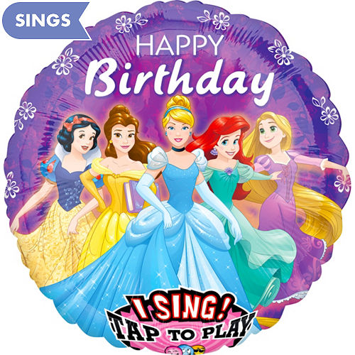 Singing Disney Princess Birthday Balloon