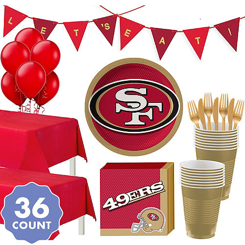 Super San Francisco 49ers Party Kit For 36 Guests