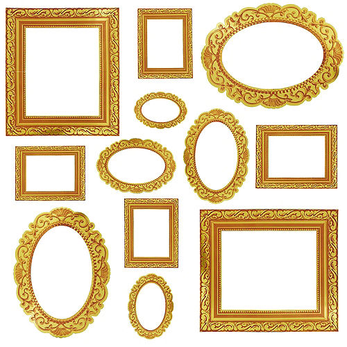 Gold Frame Photo Booth Props 12ct Party City