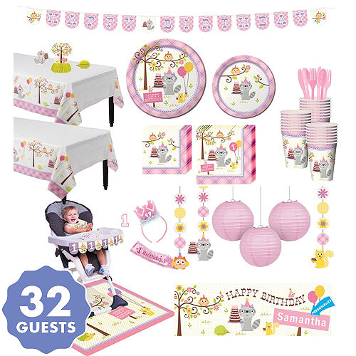 girl 1st birthday party supplies happi woodland party city