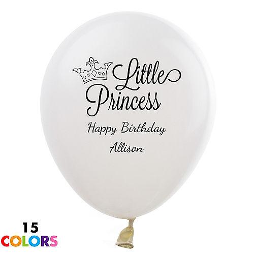Personalized Girls Birthday Latex Balloon