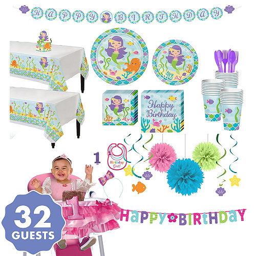 Mermaid 1st Birthday Party Supplies