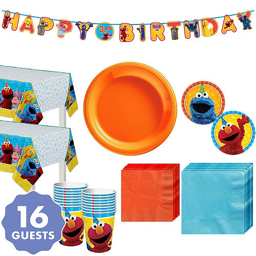 Sesame Street Tableware Party Kit For 16 Guests
