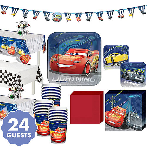 Cars 3 Tableware Party Kit For 24 Guests