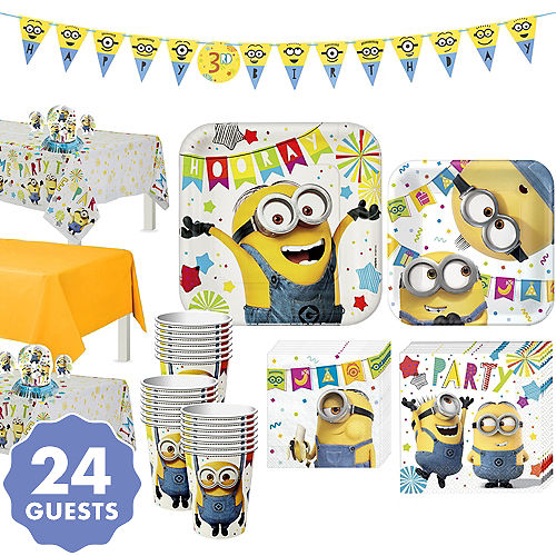 Minions Tableware Party Kit For 24 Guests
