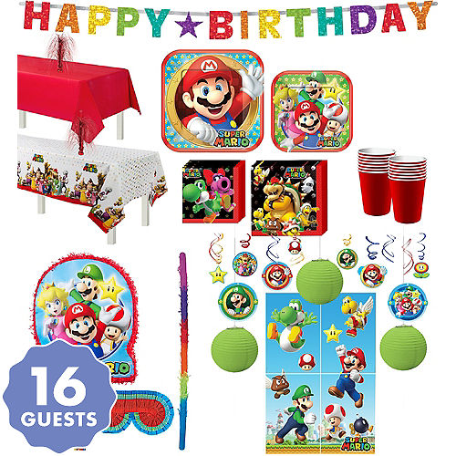 Super Mario Tableware Ultimate Kit For 16 Guests