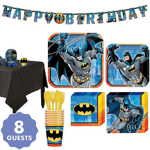 Batman Tableware Party Kit For 8 Guests