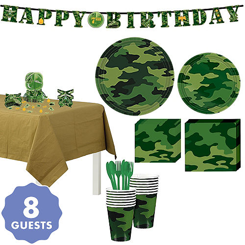 4357283751a1 Camouflage Party Supplies - Camouflage Birthday Decorations