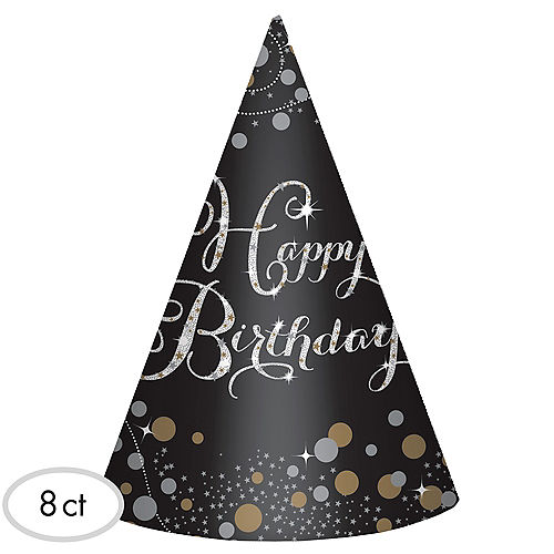 Sparkling Celebration Birthday Party Hats 8ct
