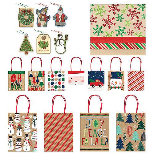 f420fe37d Kraft Christmas Gift Bag Kit